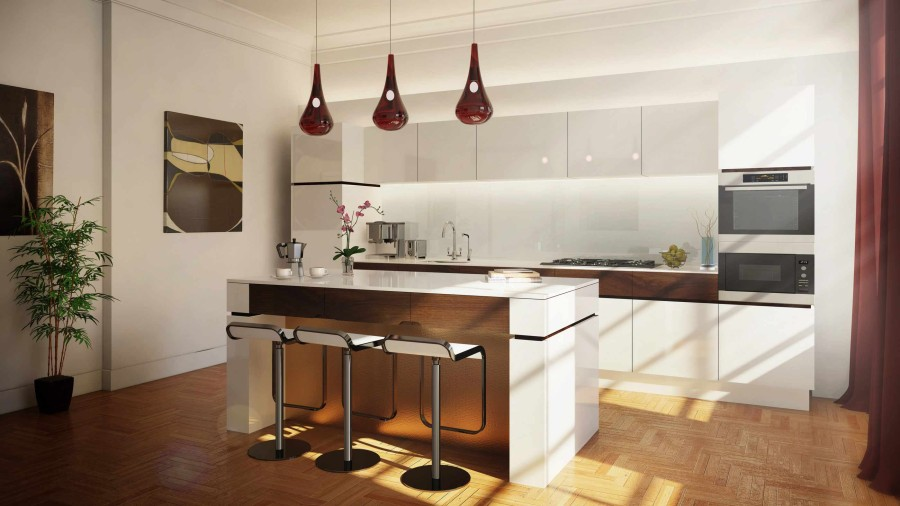 Linley -Interior Design - Kitchen CGI