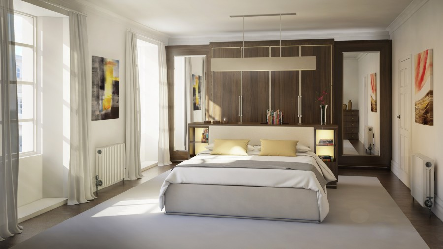 Linley -Interior Design - Master Bedroom CGI